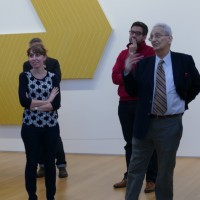Artist Frank Stell visits the Anderson Collection.