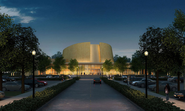 Artist's rendering of Bing Concert Hall, which is set to open January 2013.