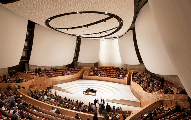 Interior of Stanford's Bing Concert Hall, which opens Jan. 11.