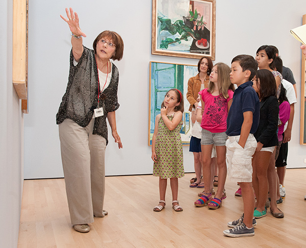 Docent Carol Toppel gives a tour.