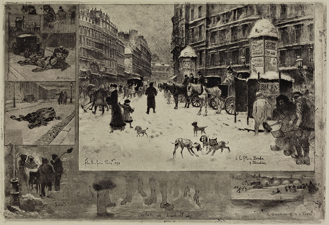 Félix Hilaire Buhot, Winter, Paris, 1879. Etching and aquatint. 1984.436.