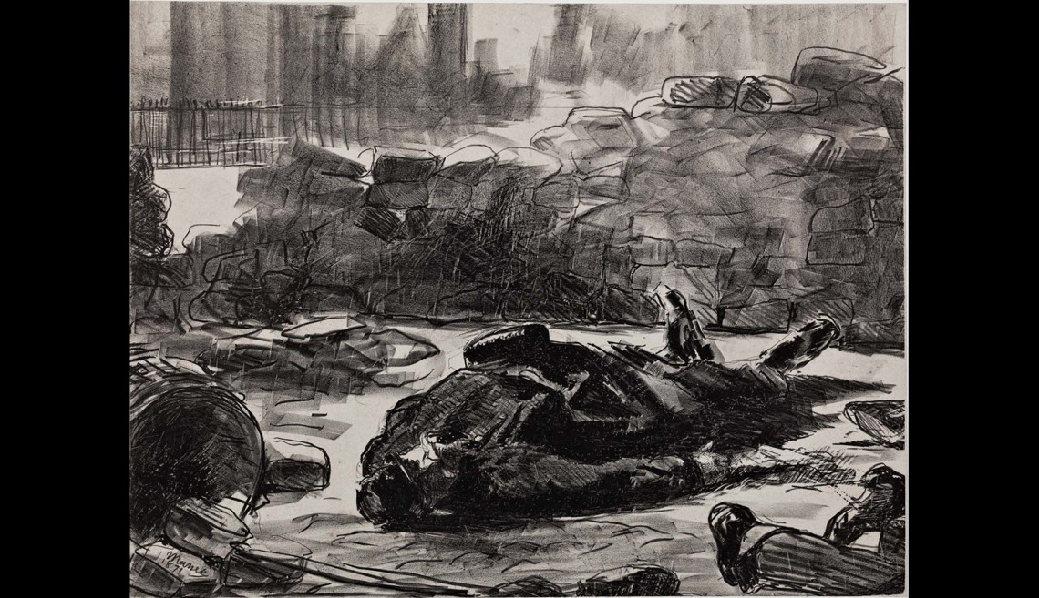 Edouard Manet (France, 1832–1883), Civil War (Guerre civile), 1871. Lithograph. Committee for Art Acquisitions Fund, 1988.93.