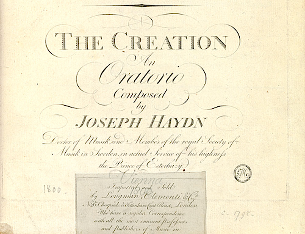 Haydn Burney England And The Creation Stanford Arts
