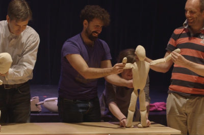 Thumbnail for 'British puppetry theater group Blind Summit teaches master class at Stanford'