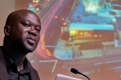 Thumbnail for 'Architect David Adjaye tells Stanford audience how he designs civic spaces to create community'