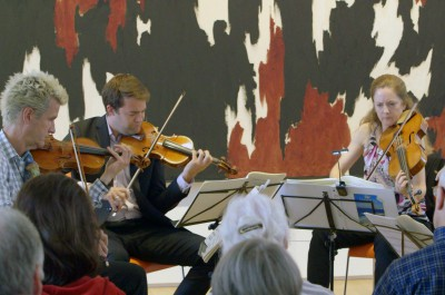 Thumbnail for 'The art of music: String quartet captivates visitors to the Anderson Collection'