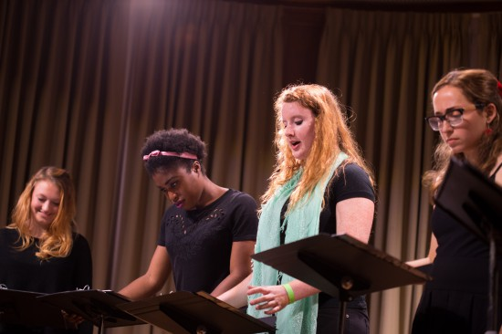 "Staged reading of ""Sheila"" by Jessia Hoffman (2014-15). Photo: Alex Tamkin"