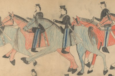 Thumbnail for 'Warrior's view of the Battle of the Little Bighorn on display at Stanford's Cantor Arts Center'