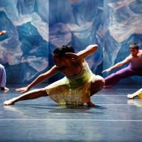 Student dancers perform on Memorial Auditorium's main stage.