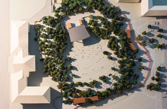 Stanford University Frost Amphitheater renovation project rendering. Courtesy of CAW Architects