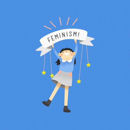 Feminism; Digital art- Katherine Liu '18