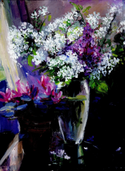 Flowers II; Painting by Shin Mei Chan '18