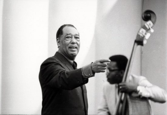 Duke Ellington, at Frost for Jazz Year in 1965. Photo credit: Stanford News Service