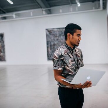 Kevin Chappelle ('19) interning at the Marciano Art Foundation during Summer 2018.