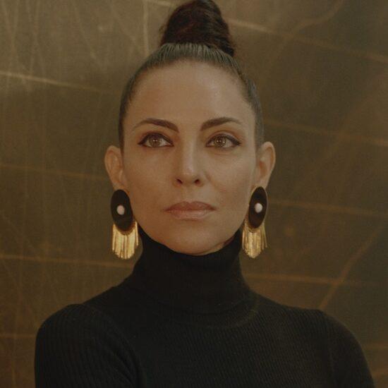 Teresita Fernandez, the MacArthur-award-winning artist stands for a portrait in her studio in Brooklyn, NY.